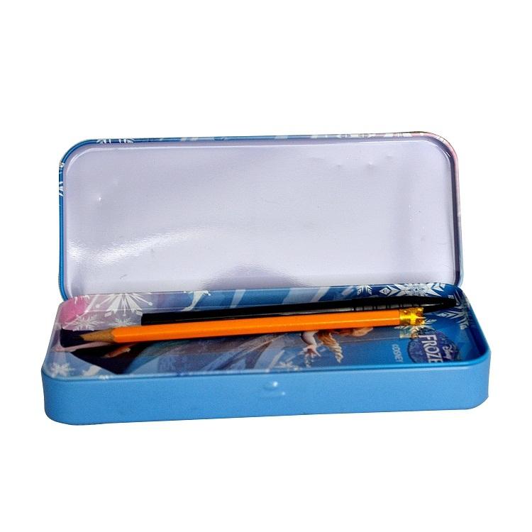 Cheap Wholesale Kids Cute Stationery Pen Pencil Metal Tin Box Custom Printed Teenagers Plain Beautiful Tin Pencil Case