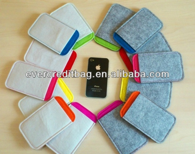 Eco Friendly Felt Protect Bag for Cell Phone