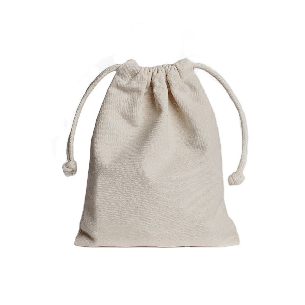 2016 Hot Selling Natural Color Custom Drawstring Cotton Bag for Gadget