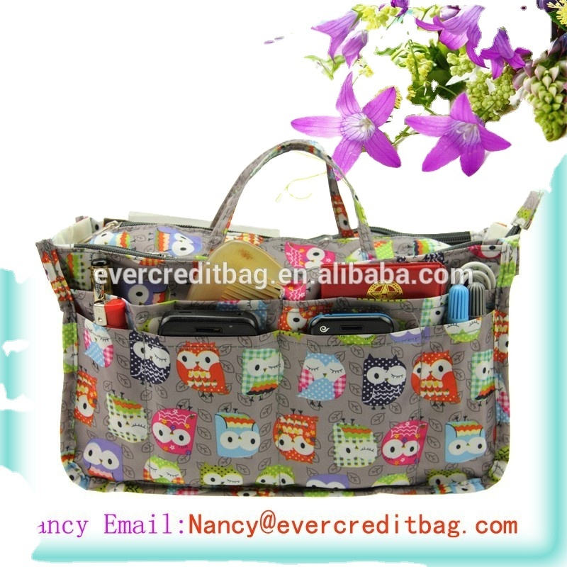 Handbag Insert Purse Organizer with Handles