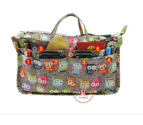 Latest Fashion Printing Purse Insert Organizer Bag in Bag