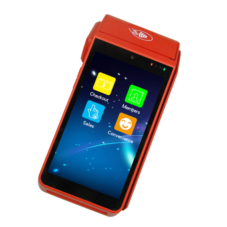 Handheld Free SDK and Restaurant APP offered Mobile Touch Screen Android POS with Printer