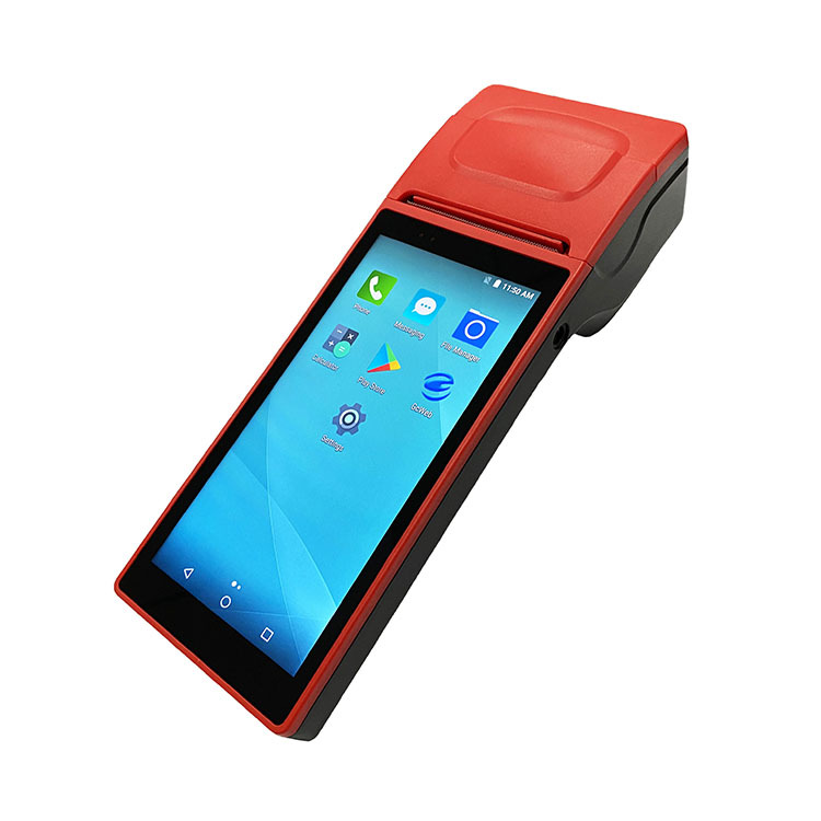 New Arrival 6'' Touch Screen Handheld Android POS Terminal With Thermal Printer for Restaurant Online Food Ordering