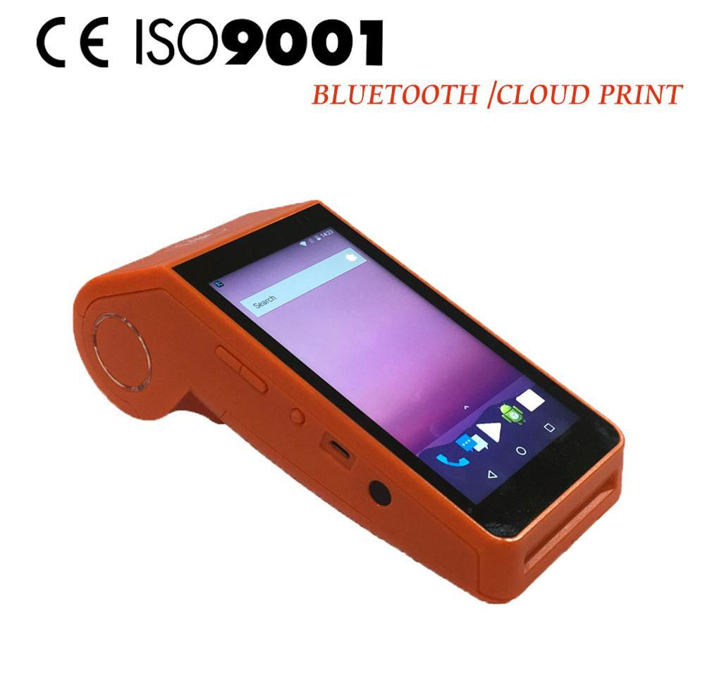 Handheld 1D 2D Barcode Scanner Reader Bluetooth WIFI Android Pos Terminal with Printer