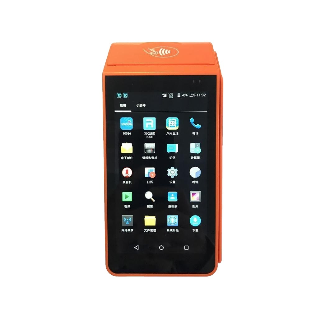 5 Inch Handheld Android Smart POS Terminal with Printer