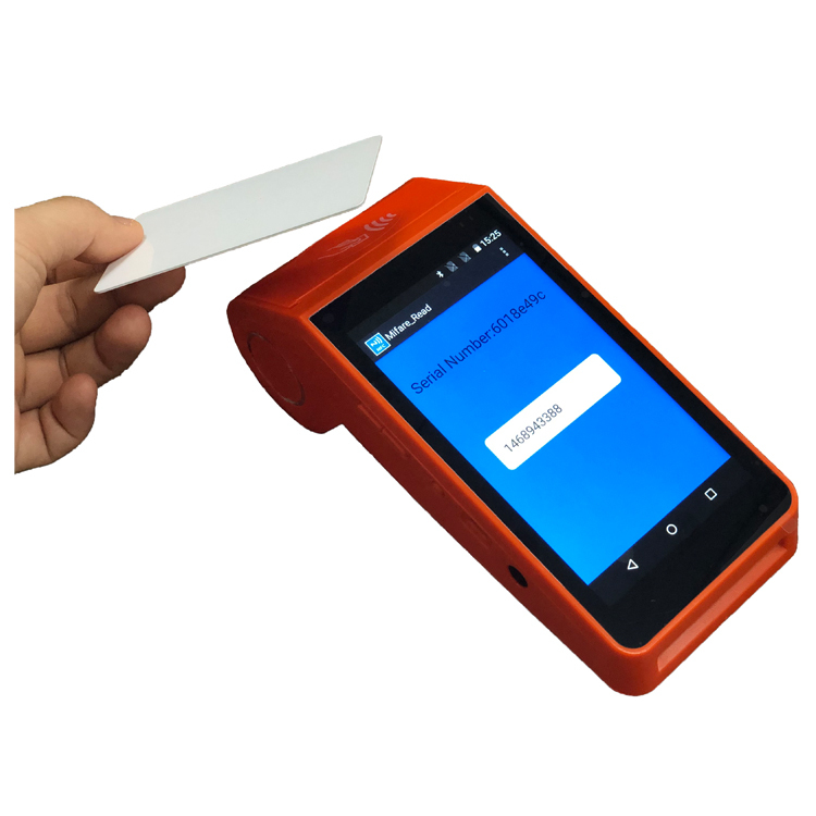 Handheld Touch Screen Pos System Card Reader All In One Android POS