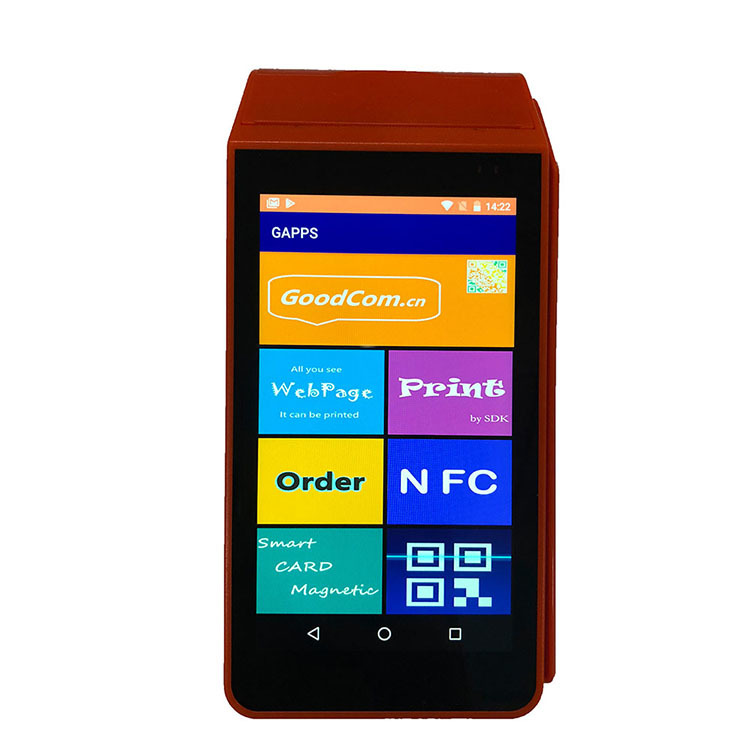Handheld Smart 4G Mobile Payment Android Touch Screen POS Device With 58mm Thermal Receipt Printer Barcode Point Of Sale System
