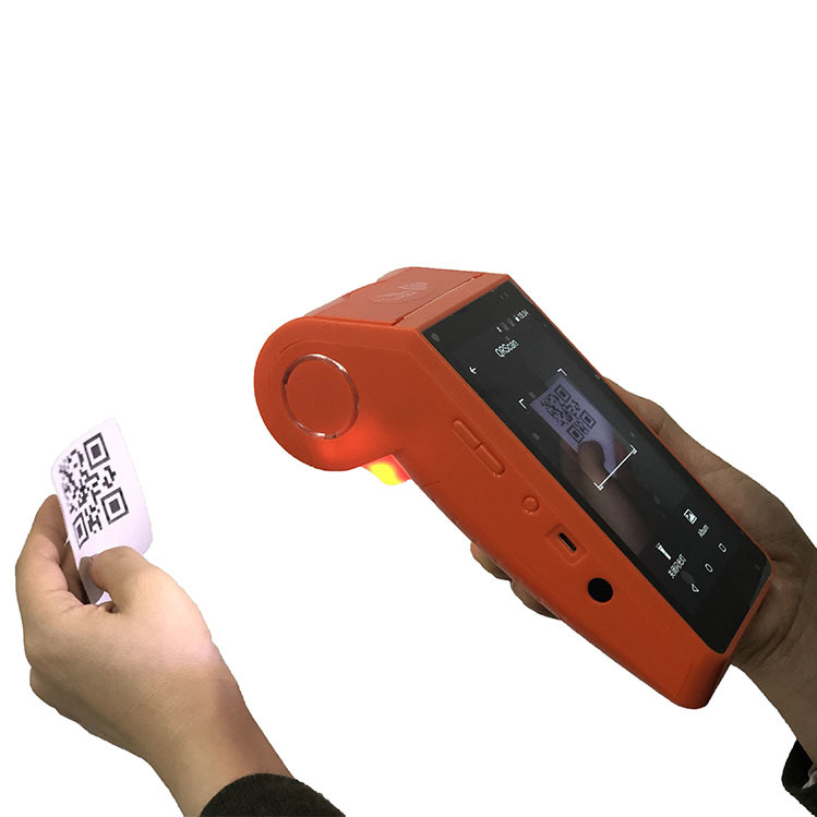 Customizable Handheld Android Smart Barcode Scanner POS Terminal with Thermal Receipt Printer