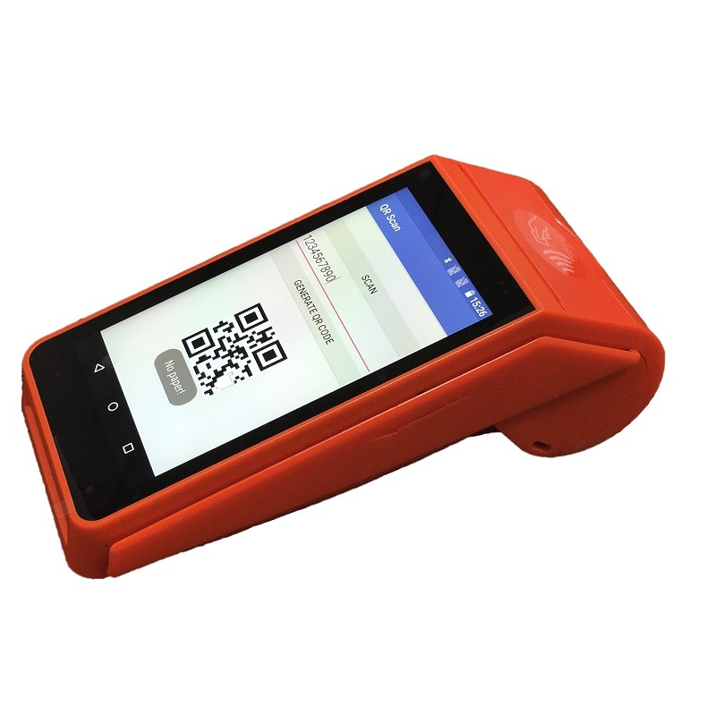 Handheld EVD Android Touch Screen POS Terminal with Receipt Printer