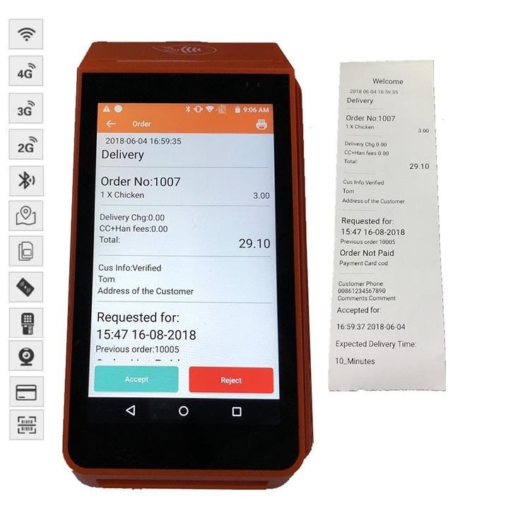 58mm Android Bluetooth Thermal Printer for Car Parking