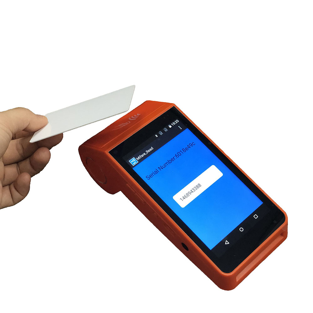 Portable Handheld Android POS Tablet NFC Magnetic Smart Card Reader Terminal With POS System Integrate Thermal Printer