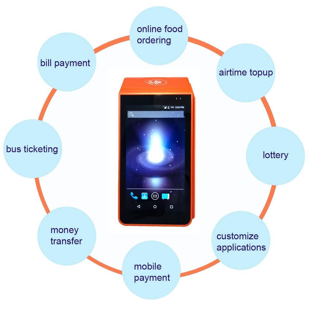 Android POS with Printer hand held pos terminal smart pos PDA