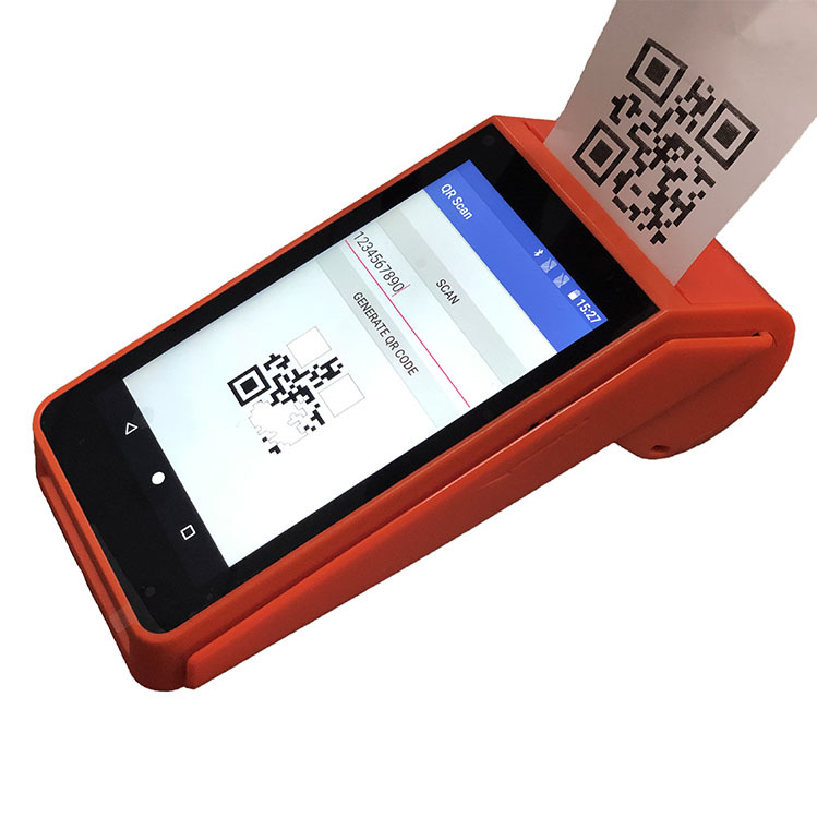 Android 7.1 Portable POS Machine All In One Thermal Printer Free SDK Available