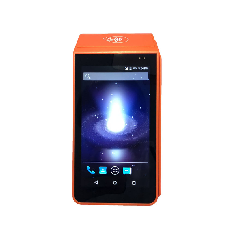 Handheld Android Pos TerminalWith Printer , Portable Barcode Scanner Nfc Pos AndroidTerminal