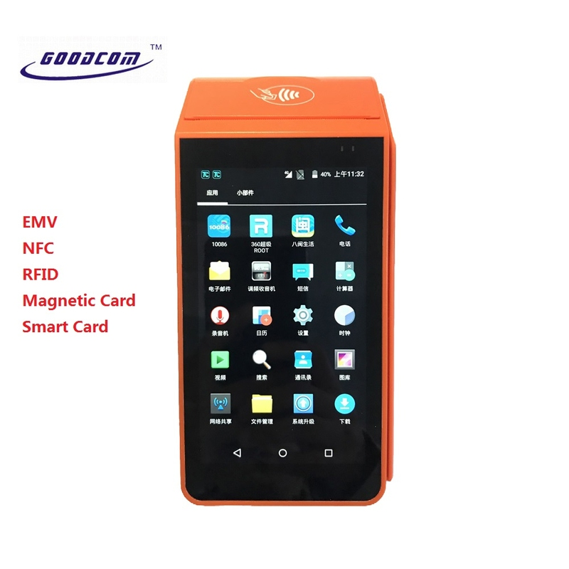 POS Software Android EMV Hand-held POS Terminal NFC Smart Card