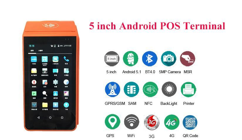 Touch Screen Android POS Terminal with POS System for Online Food Ordering