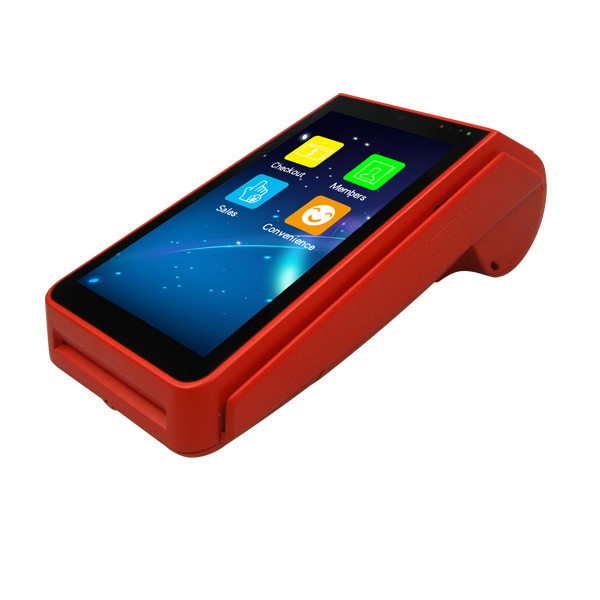 All in one Handheld Thermal Receipt Printer Android touch screen Pos Terminal with Printer