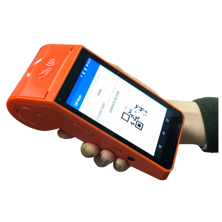 Hotsell Touch Screen Handheld Android POS All In One Barcode Scanner Card Reader POS Terminal With Printer
