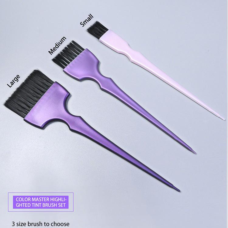 Salon Highlight Brush Hair Color Dye Kit TintIsolate Tissue Paper Tools Set