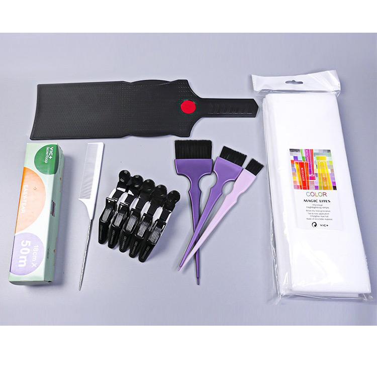 Custom Logo Highlight Brush Handle Hair Coloring Dyeing Kit Color Tint Applicator for Hair Dye Brushes