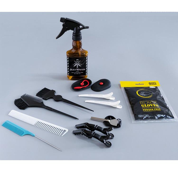 Professional Salon Perming Hairdressing Baber spray Bottle Tint Brush Hair Style Tool Set