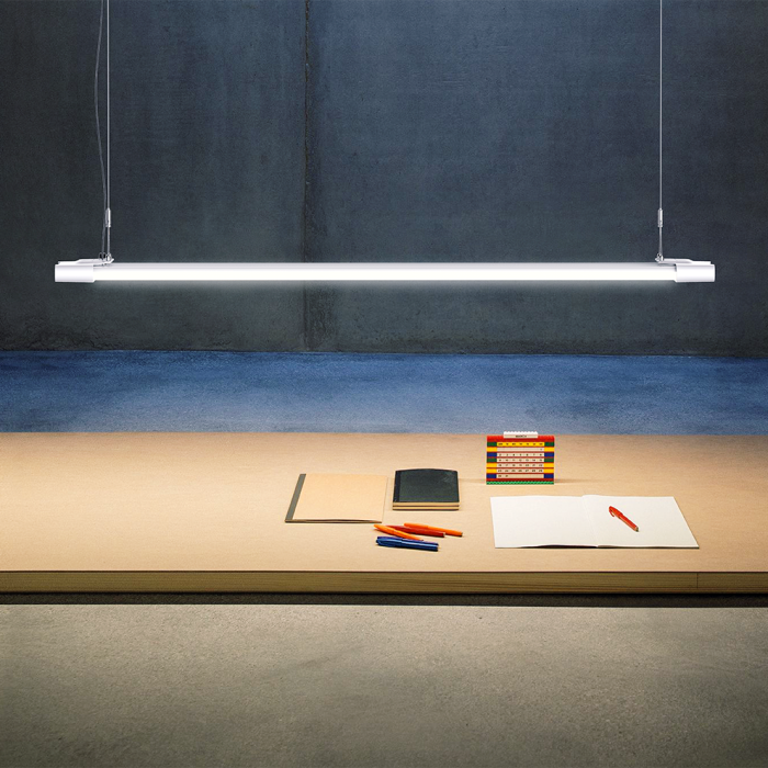 High Power Led Linear Light 48w Led Batten Lamp For Office