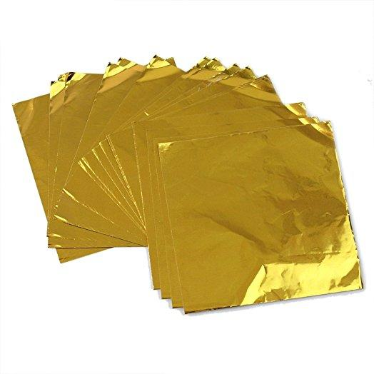Factory price paper backed aluminum foil for chocolate wrapping