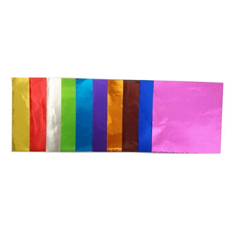 KOLYSEN Custom printed food grade candy wrapper aluminum foil chocolate foil gold factory