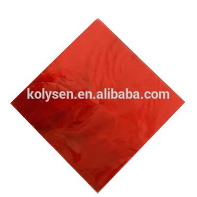 Custom logo de aluminio para la envoltura de chocolate aluminum foil for chocolate wrap chocolate bar wrapper foil