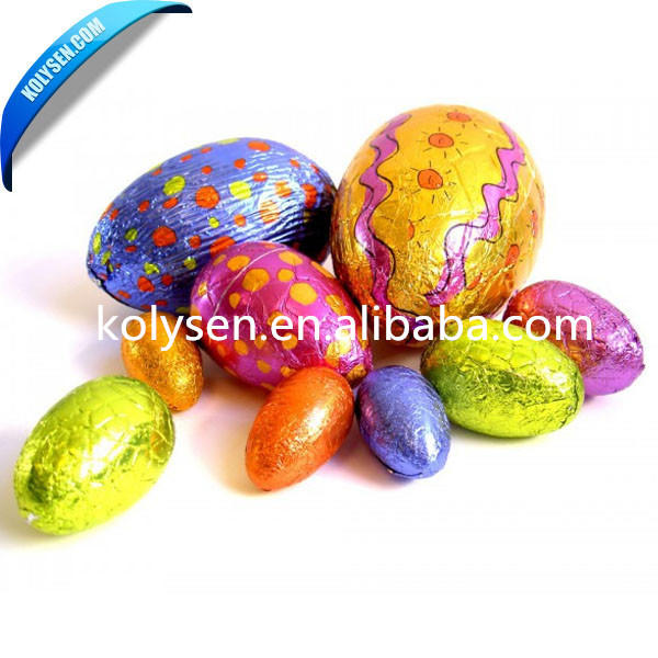 Custom Christmas color chocolate egg wrapping paper