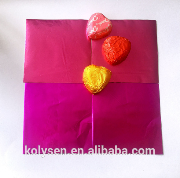 Corrugated Coloring Aluminum Foil Chocolate Wrapping paper