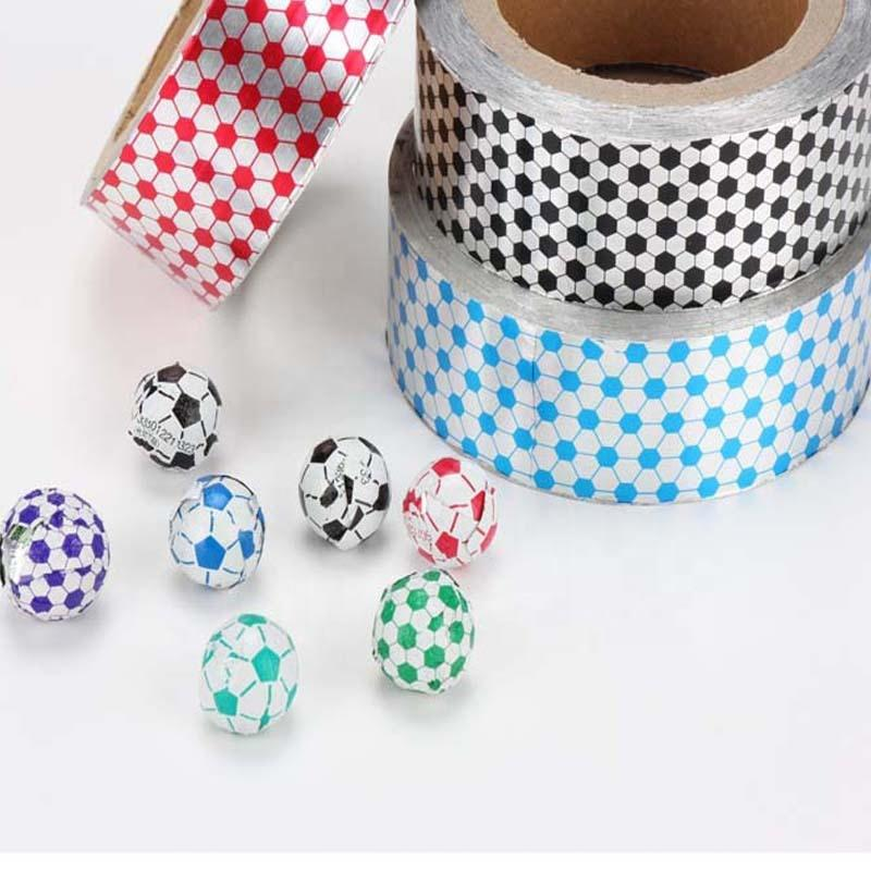 Custom Printed food grade football style printed chocolate aluminum foil Export from China
