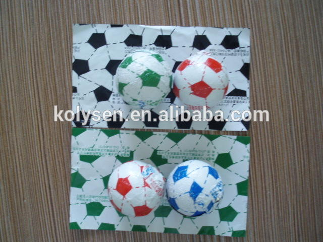 Chocolate Ball Wrap Sheet Print Aluminum Foil Made in China Football Style Soft