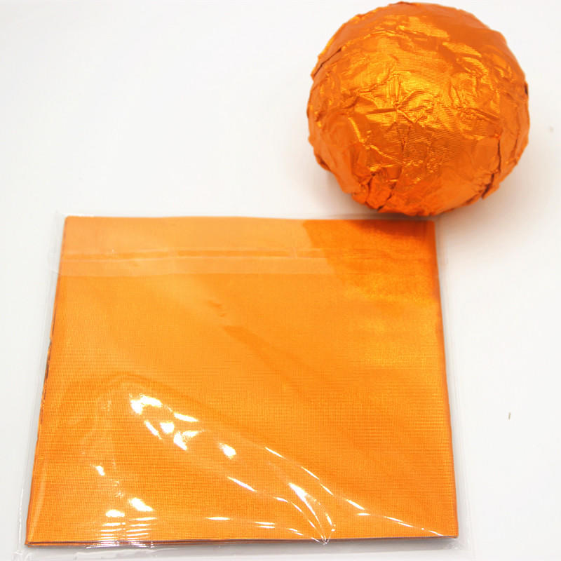 Orange aluminum chocolate ball wrap foil sheet