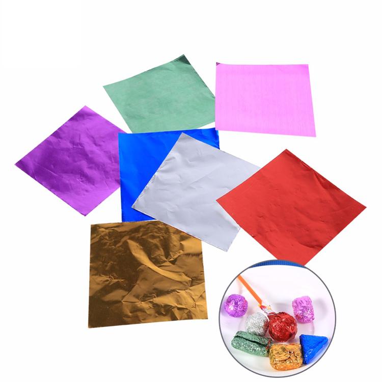 papel de aluminio para envoltura de chocolate