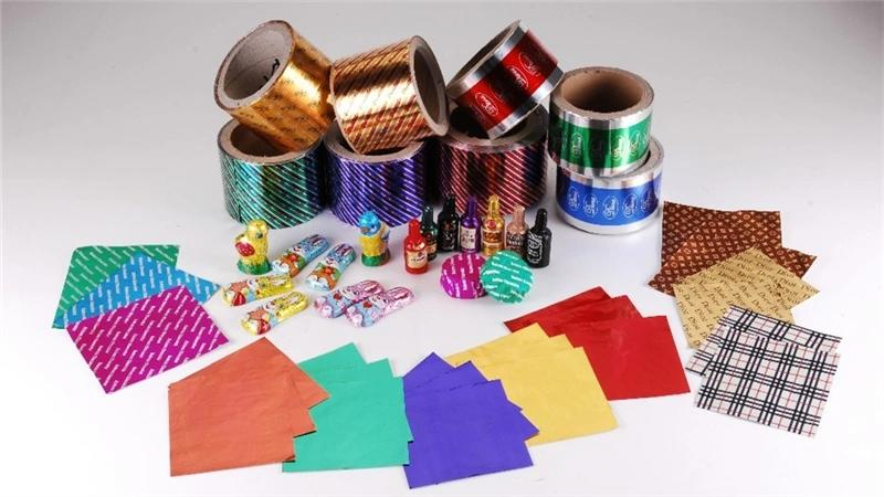 wholesale high quality colorful customized aluminum foil for chocolate