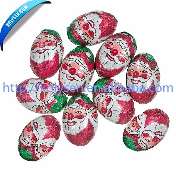 Santa Claus / Christmas printed aluminum foil for chocolate wrapping