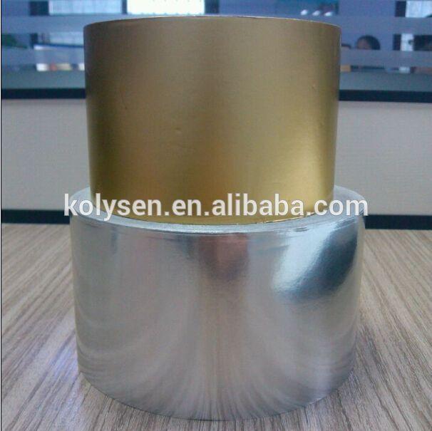 Matt gold and silver chocolate wrap aluminum foil paper roll