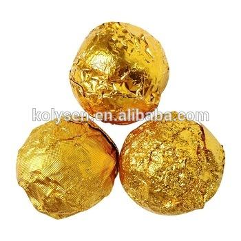 Custom printed food grade Chocolate balls hearts bumble bees wrapping aluminum foil made in china