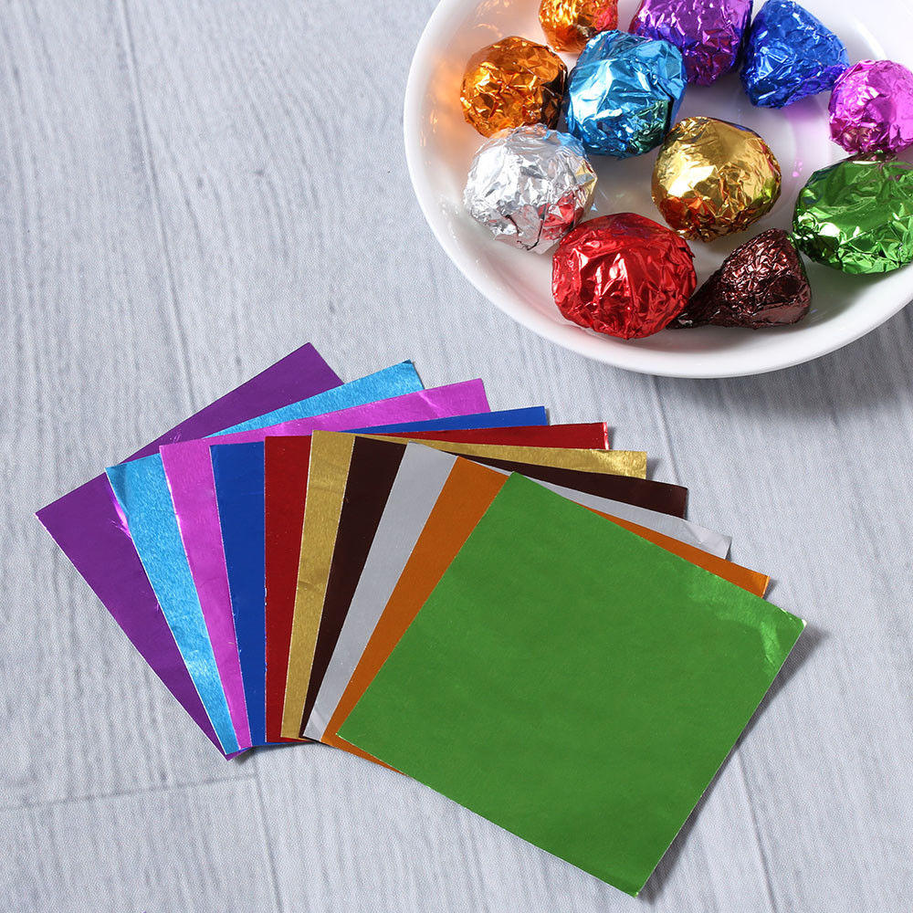 Customized Aluminum Foil Food Wrapping Paper for Chocolate/Butter/Chewing Gum/Bouillon Cube Packaging