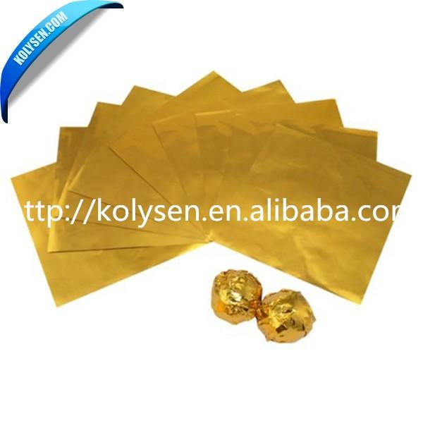 KOLYSENCustomizedhigh quality food grade chocolate aluminum foil Verified Supplier in china