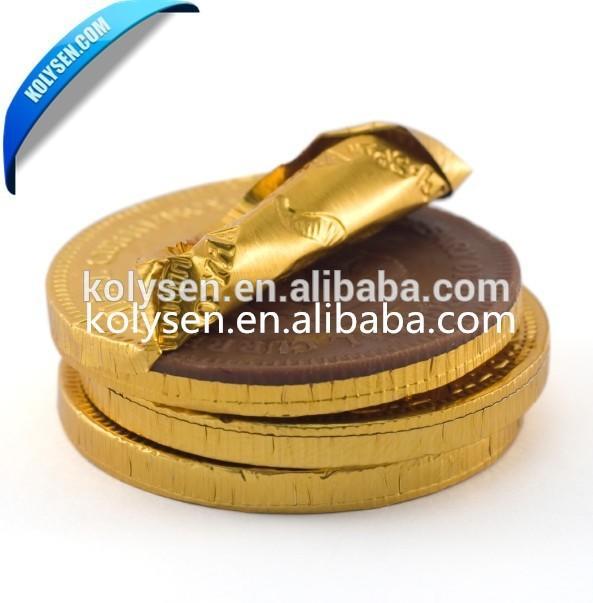golden composite aluminum foil paper / aluminum foil chocolate wrapping paper