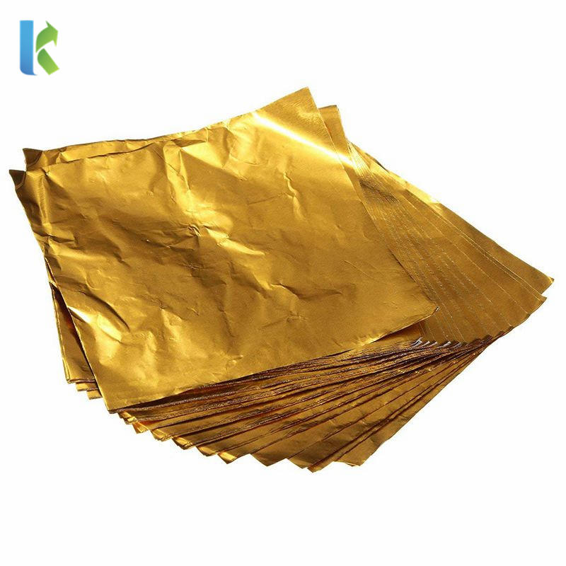 CustomizedFood Grade Chocolate Bar Shiny Gold Chocolate Foil in China Manufacturer