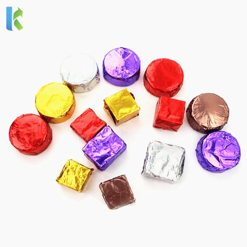 hot sale factory customed printed colorful chocolate wrappers aluminum foil