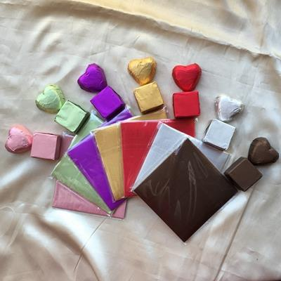 colorful chocolate foil wrapper