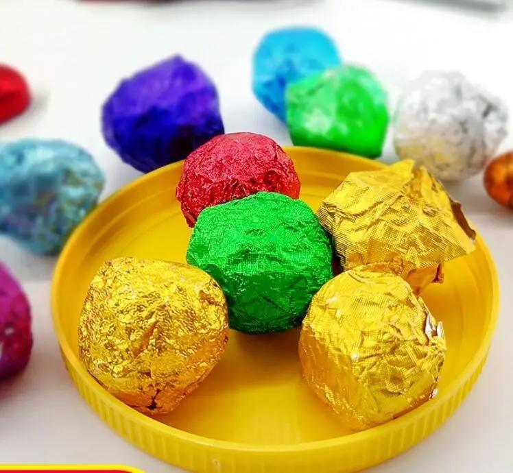 colorful customized aluminum foil paper golden aluminum foil chocolate wrapping