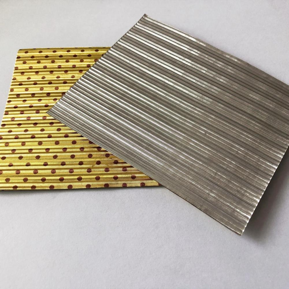 Corrugated Printed Gold Aluminum Foil Wholesale