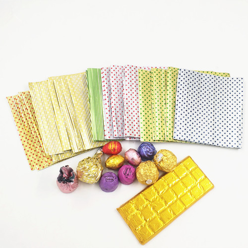 Customizedfood grade Twistable corrugated caramel candy wrapping aluminum foil Verified Supplier in china