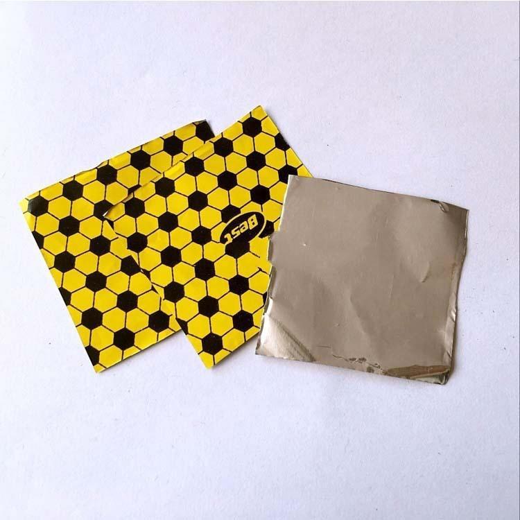 Custom printed chocolate ball wrap aluminum foil in sheet