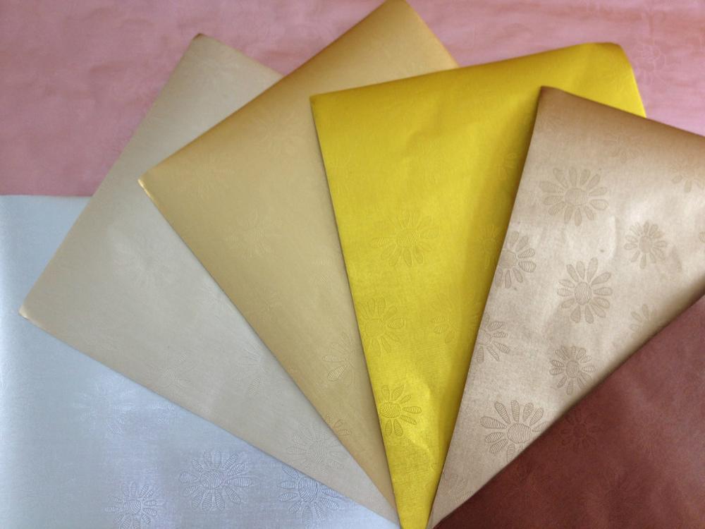 Custom gold chocolate foil paper